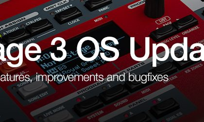 new Nord Stage 3 OS v1.12