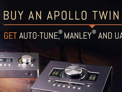 Gratis vocal plugins bij aankoop Apollo Twin mkII of Arrow