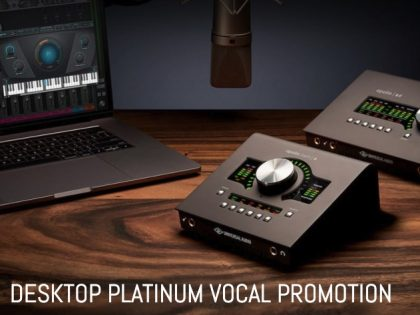 Desktop platinum vocal promotion voor Apollo X4 en Apollo Twin